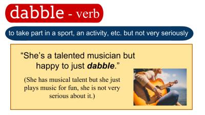 dabble