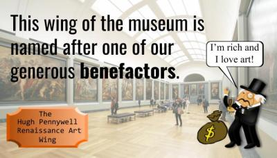 This wing of the museum is named after one of our generous benefactors