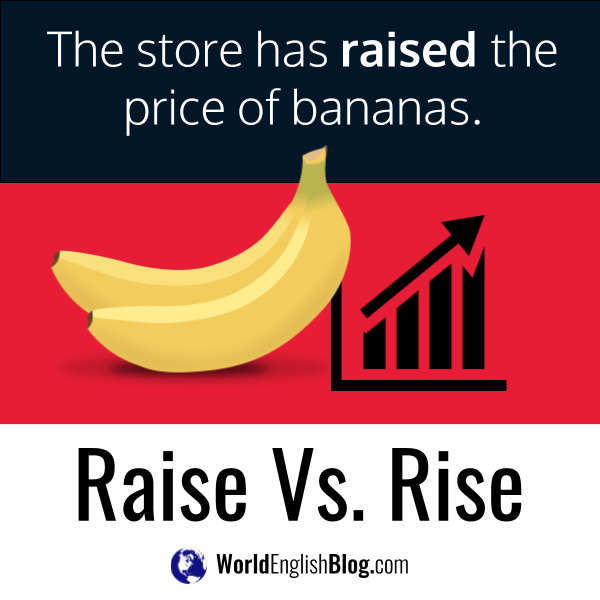The store has raised the price of bananas.