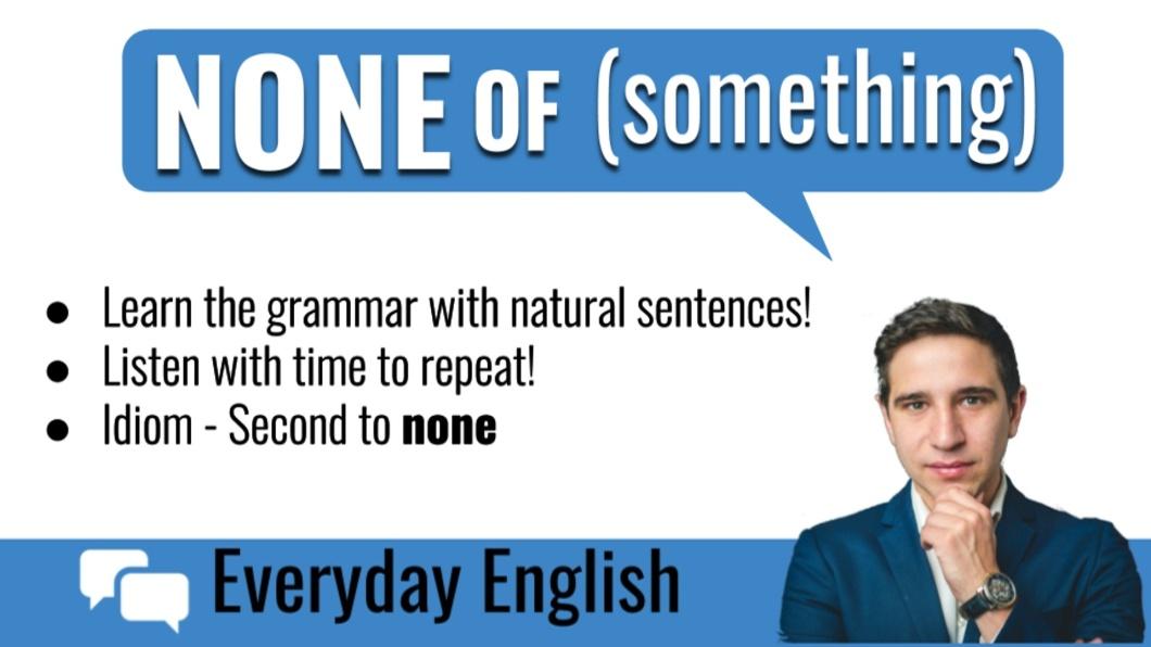 Everyday English grammar - none of (something)